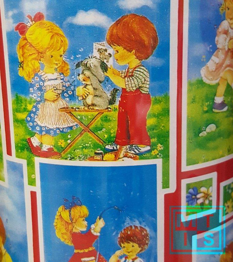 Geschenkpapier - Kinderpapier Mädchen Junge MT2034-50cm
