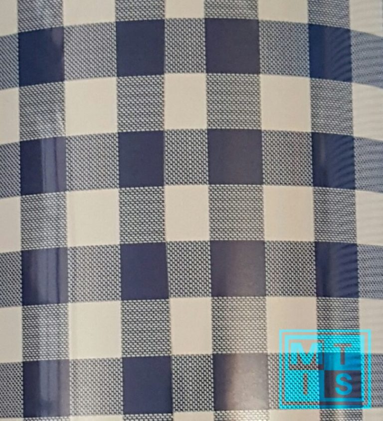 Geschenkpapier - Blau Kariert - MT2047-70cm