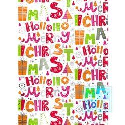 Weihnachten 891497/1 HOHO Merry Christmas Pink