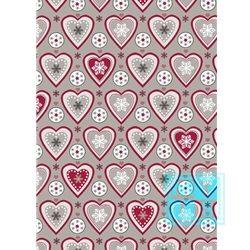 Weihnachten Heartwarming Taupe Rot 691421-2