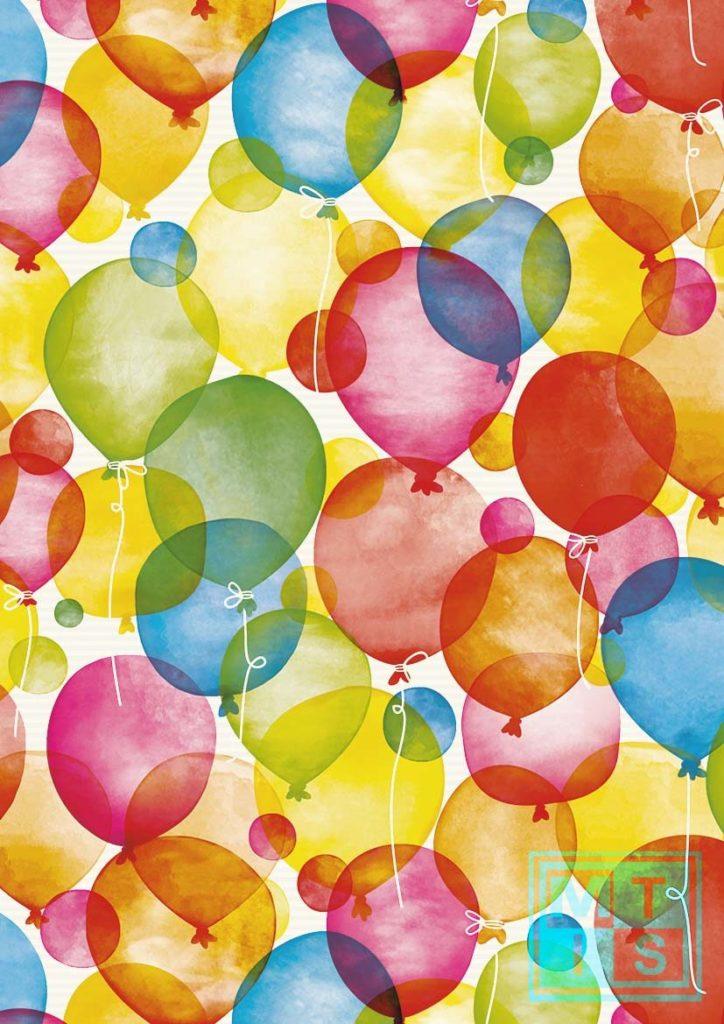 Geschenkpapier Ballon Weiss Kraft. K501660/1
