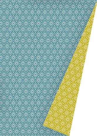 Geschenkpapier Chic Neon Petrol Mustard K601475/21