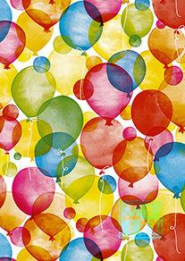 Ballon: Geschenkpapier Watercolour Balloons K601660