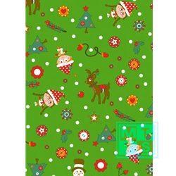 Weihnachten Einpackpapier K691428/4 Santa and Friends