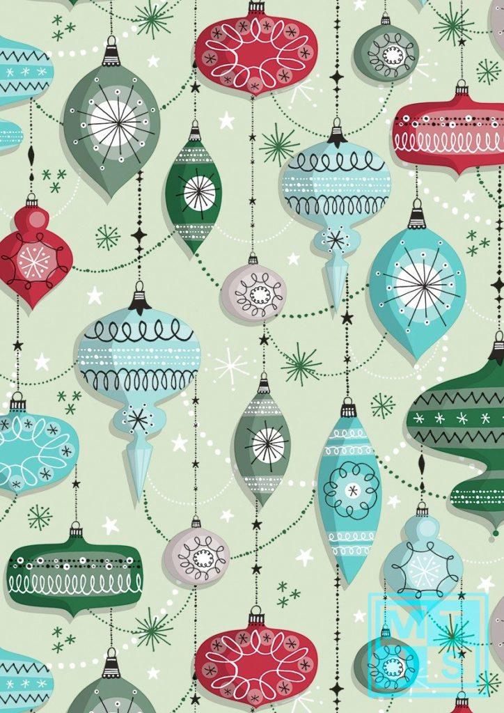 Geschenkpapier Weihnachten: Retro Christmas K691671-2 MTgeschenkpapier
