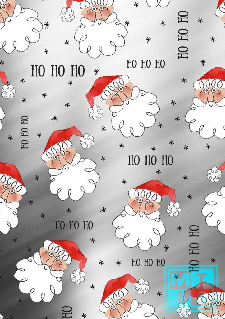 Metallic Weihnachtspapier Santa K891664-1 MTgeschenkpapier
