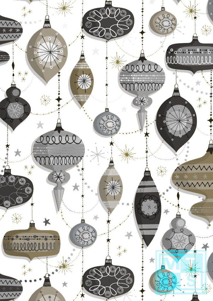 Weihnachtspapier metallic Kugeln K891671-4 MTgeschenkpapier