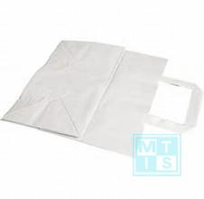 Kraft Tragetasche Weiß 45x17x48 150 Stücke MTgeschenkpapier