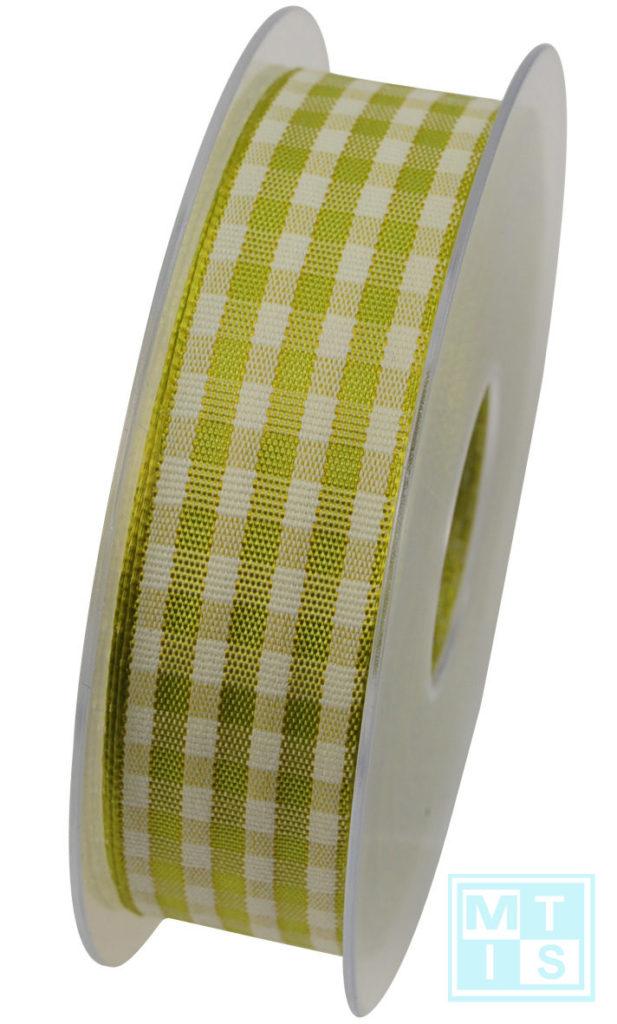 Textilband Kariert Grün