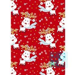 Weihnachten Einpackpapier Rudy Rentier Rot 691422