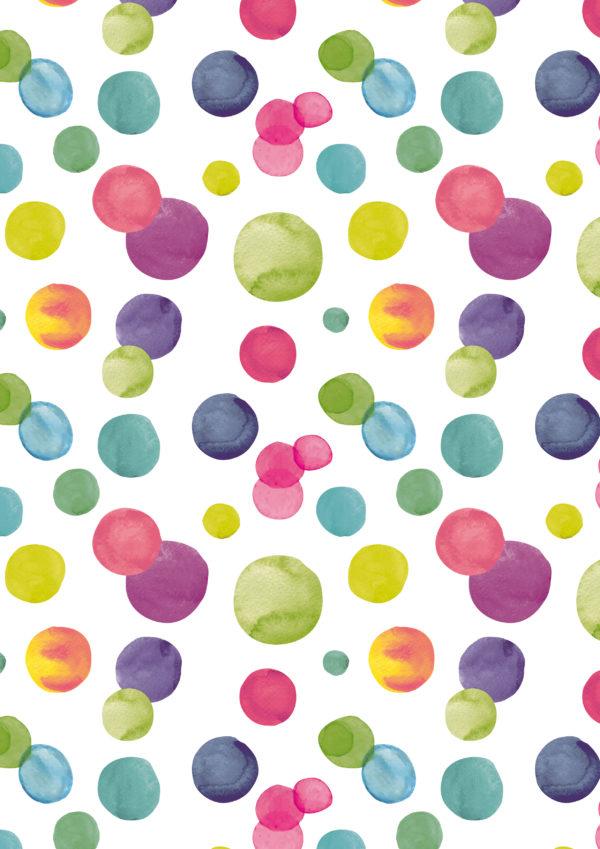 Geschenkpapier farbige Punkte