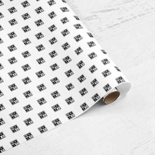 Individueel bedrukt cadeaupapier: Uni kleur met Uw logo in 1 kleur gedrukt