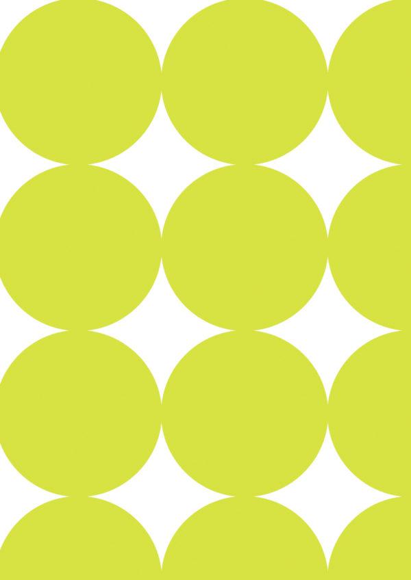 Große Punkte Lindgrün Geschenkpapier