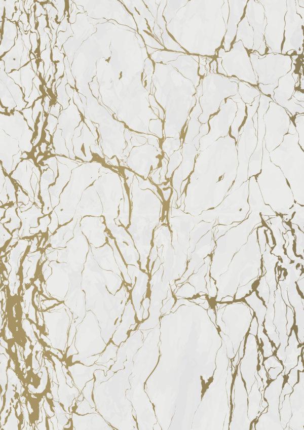 Marmor Grau Gold Geschenkpapier