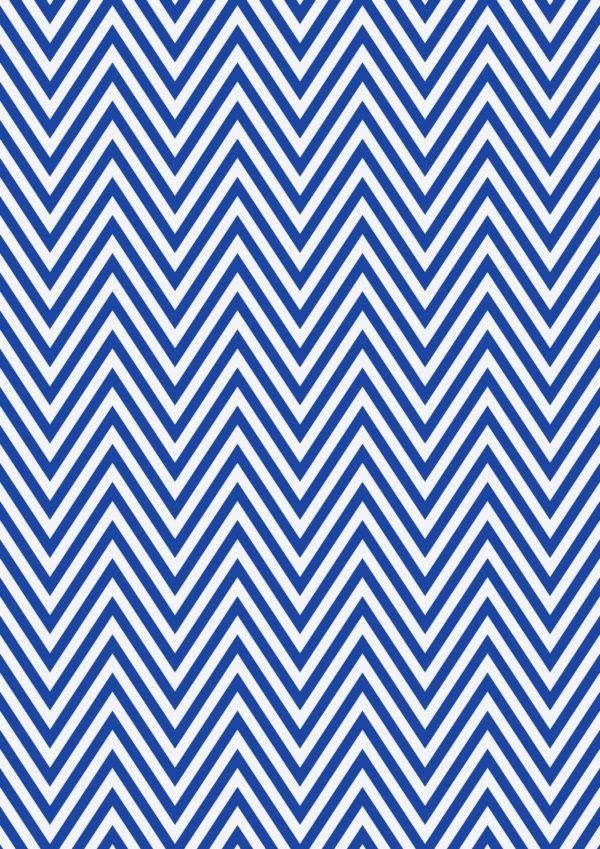 Geschenkpapier Blau Weiss Zickzack Geschenkverpackung