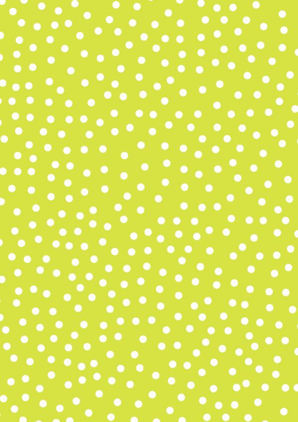Limegrünes Geschenkpapier mit Punkte K60571-38
