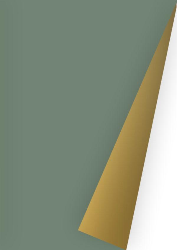 Grün Gold Geschenkpapier Uni