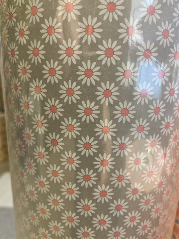 Geschenkpapier C4040 Blumen Grau Rosa