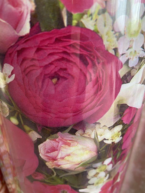Einpackpapier C4044 Blumen Rosa