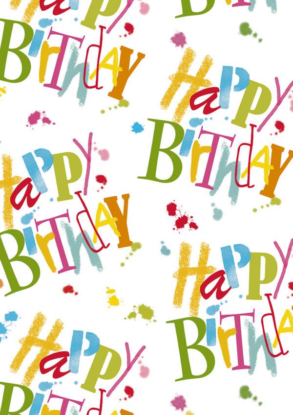 Geschenkpapier C4020 Happy Birthday