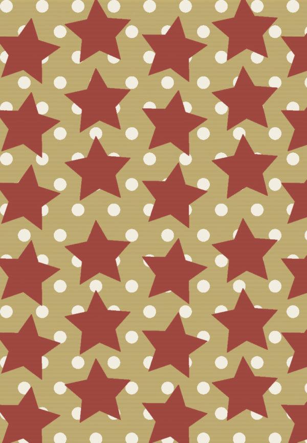 Kraftpapier: Rote Sterne