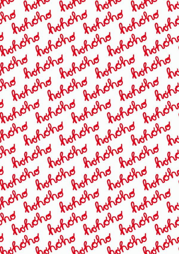 Weihnachtsgeschenkpapier Hohoho rot