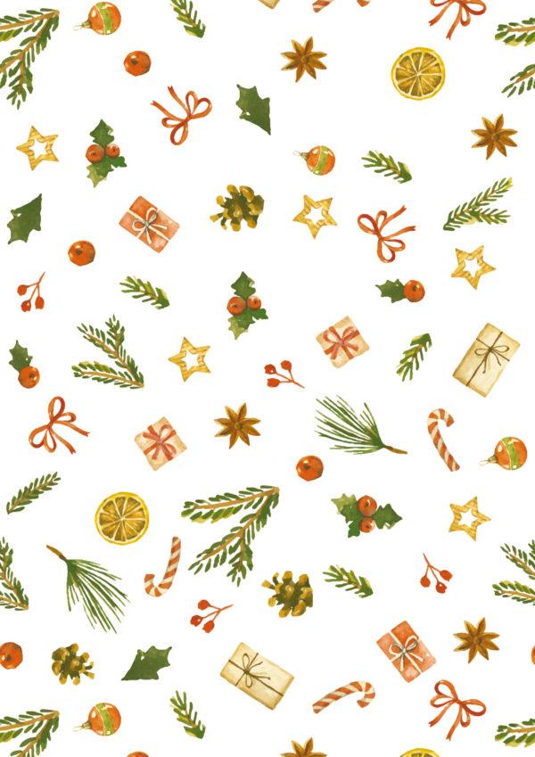 Kerst papier Traditioneel Xmas