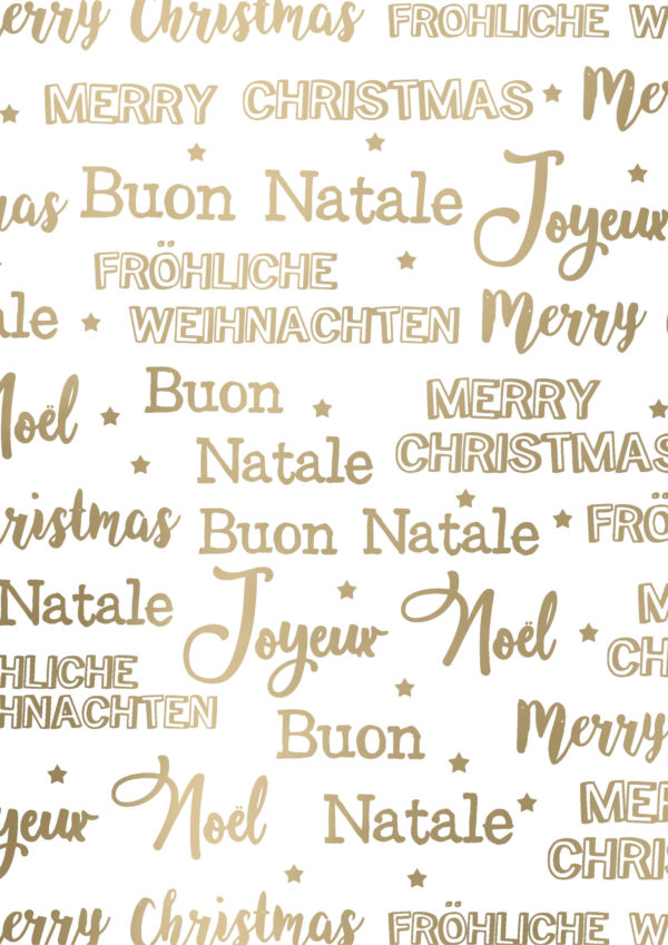 Weihnachtspapier Frohe Weihnachten Weißgold
