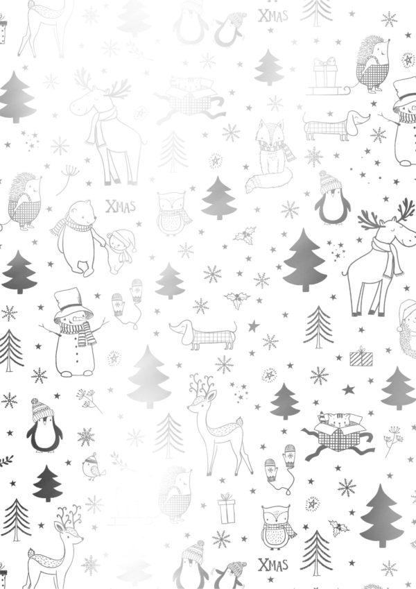 Weihnachtsgeschenkverpackung Black White Xmas