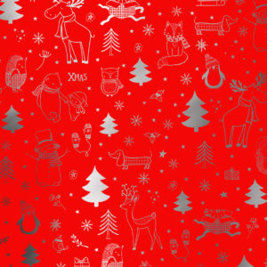Rood Kerst cadeaupapier All I Want