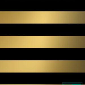 Kerstmis: inpakpapier Stripes Black/Gold K69748/24