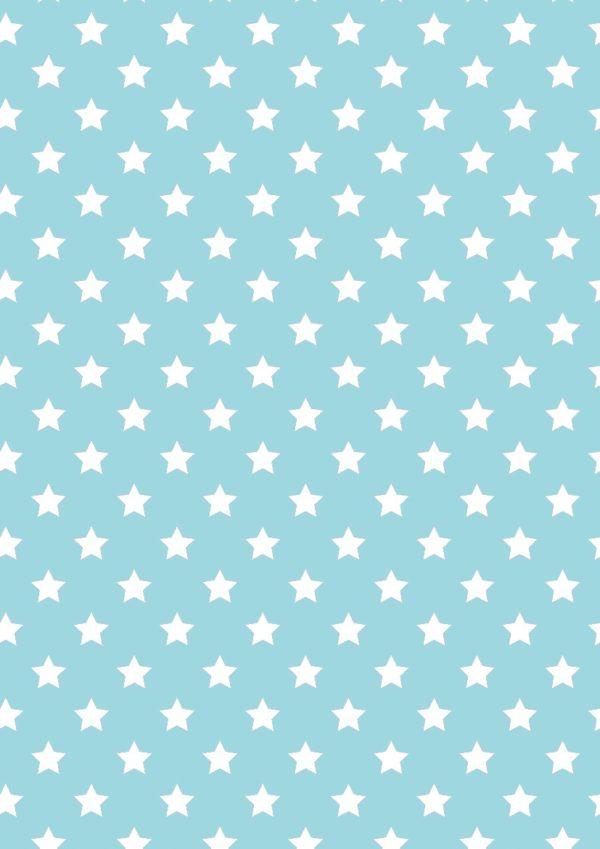 Blaues Geschenkpapier mit weißen Sternen