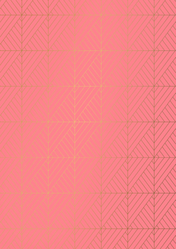 Korallenrot Geschenkpapier Grafik drucken