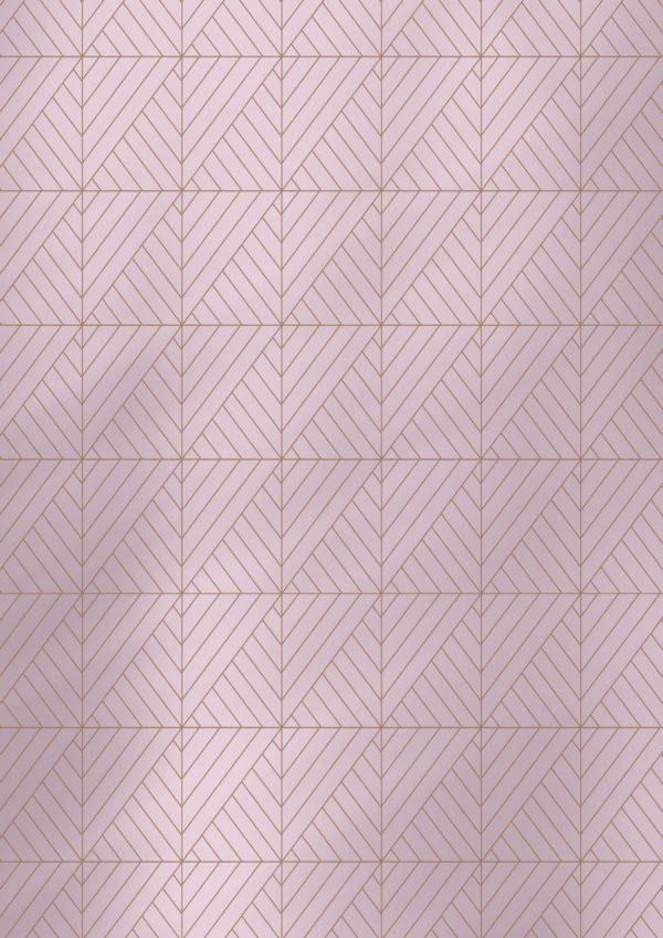 Geschenkpapier Pink mit grafischen Formen.