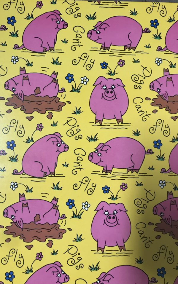 24 Blatt Geschenkpapier Schwein