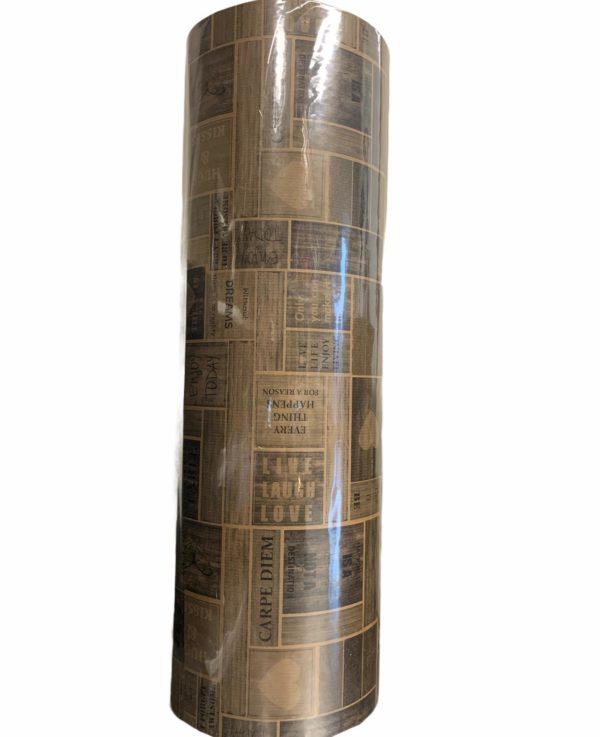 Kraftpapier braun mit Sprichwörtern C4108