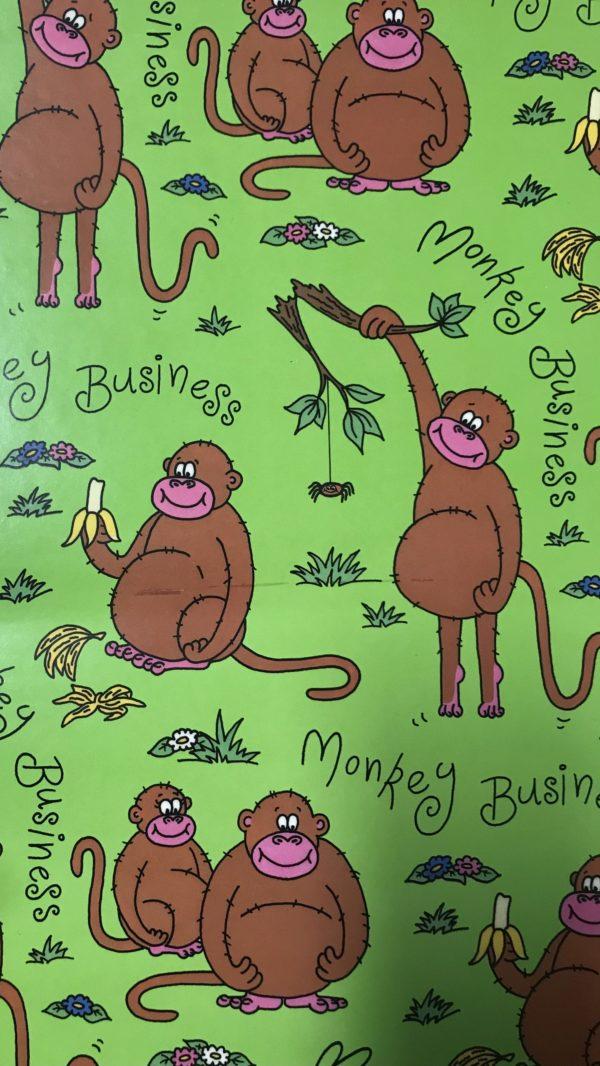 24 Blätter Geschenkpapier Affen