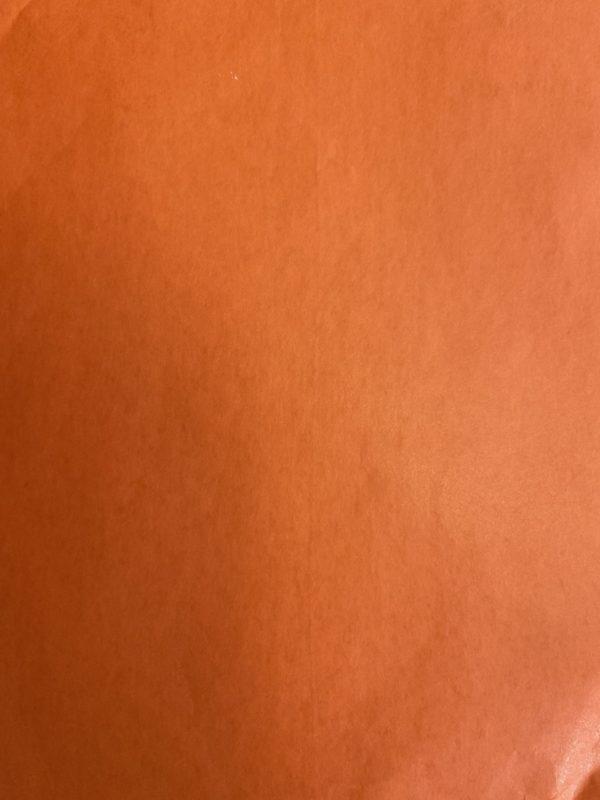 Bedrucktes Tissue-Papier Orange auf Rolle