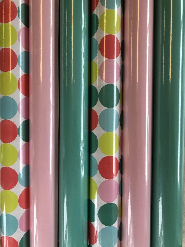 Geschenkpapier Pastell Dots 6 Rollen