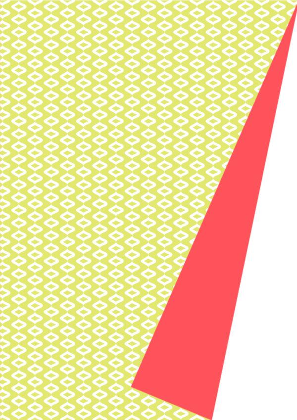 Doppelseitiges Geschenkpapier Grünes Neon-Motiv
