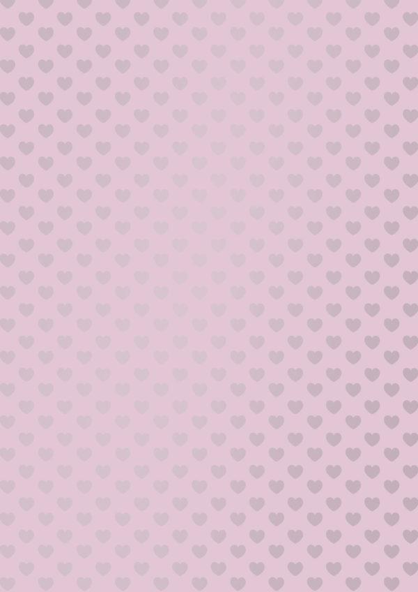 Lila Geschenkpapier mit Herz Motiv