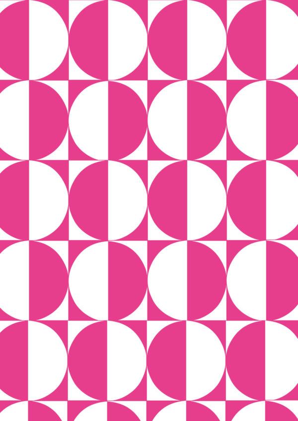 Geschenkpapier Motiv der rosa Kreise
