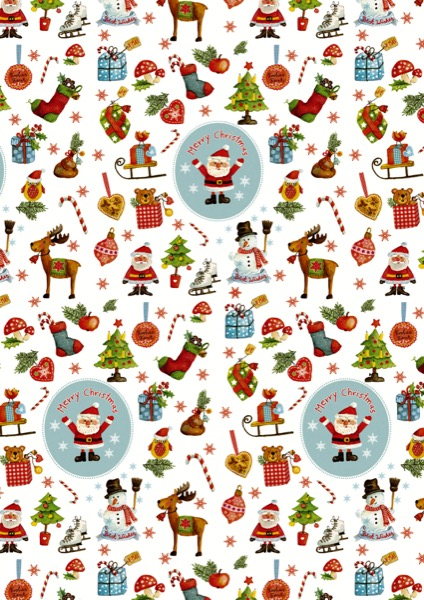 Weißes Weihnachtsgeschenk Papier Weihnachten Zeichen C4152