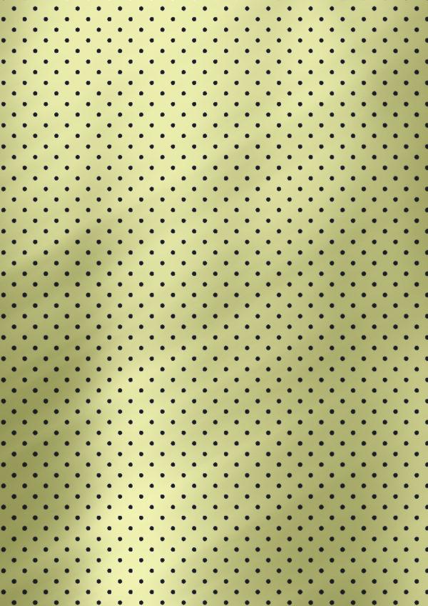 Geschenkpapier mit Punkten Grün Schwarz