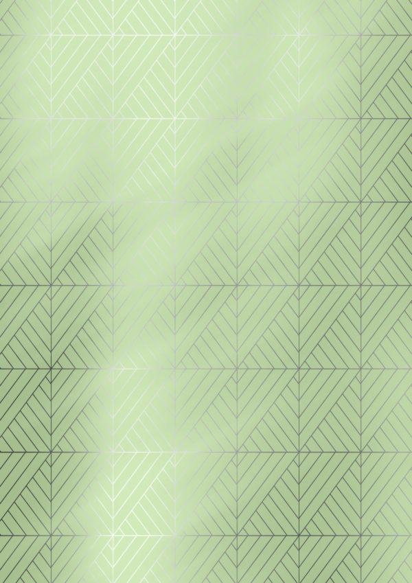 Geschenkpapier Grün mit grafischen Formen