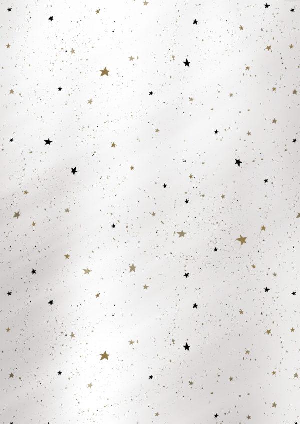 Silbernes Weihnachtsgeschenkpapier Sterne