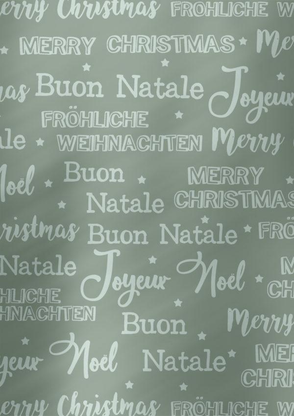 Weihnachtspapier Frohe Weihnachten Grau