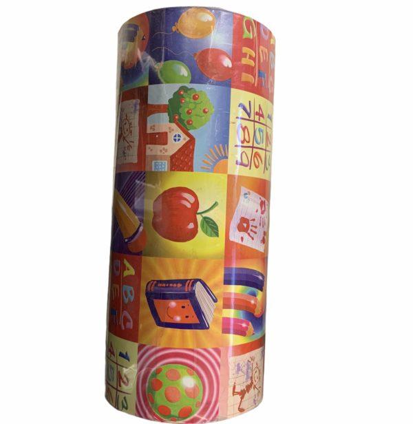 Buntes Geschenkpapier mit Kinderdruck C4116
