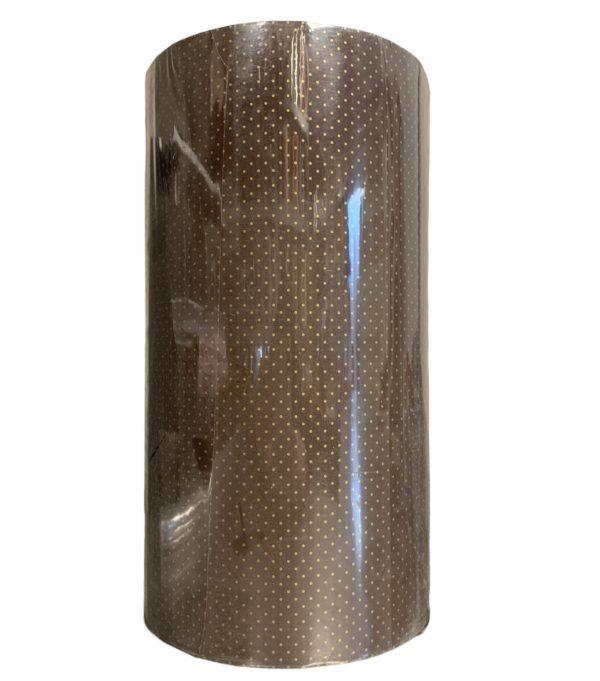 Braunes Kraftpapier mit Tupfen C4119