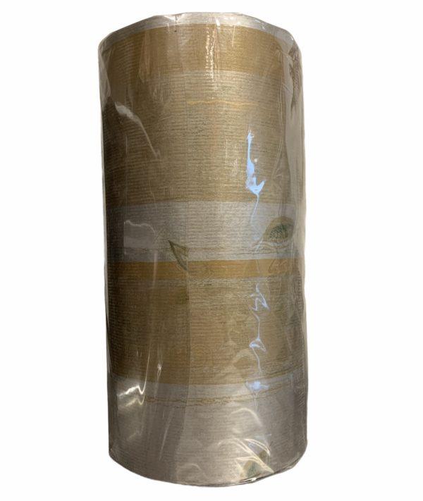Braunes Kraftpapier mit Blättern C4126